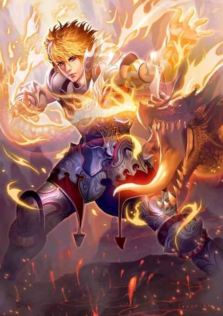 Lius Lasahido deviantart ilustrações fantasia arte conceitual Fogo de dragão
