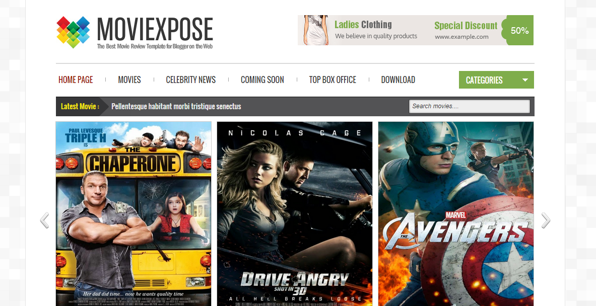 Moviexpose Responsive Free Blogger Templates