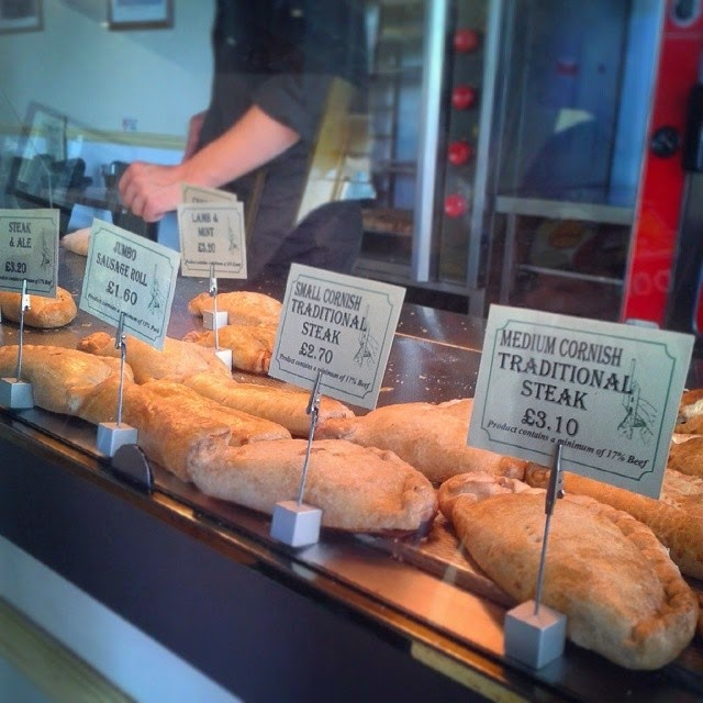 Cornish pasties at Oggy Oggy, Falmouth