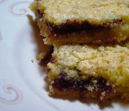 Cookie Bars Made With Strawberry Cake Mix And Cream Cheese