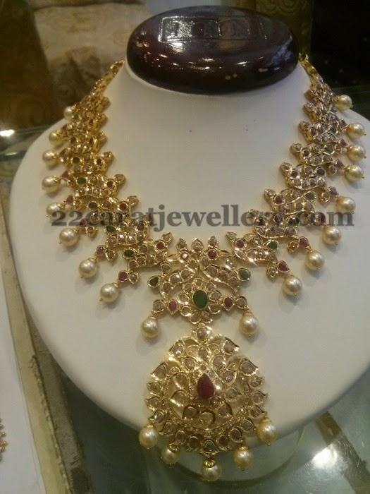 Peacock Style Pachi Bridal Necklace