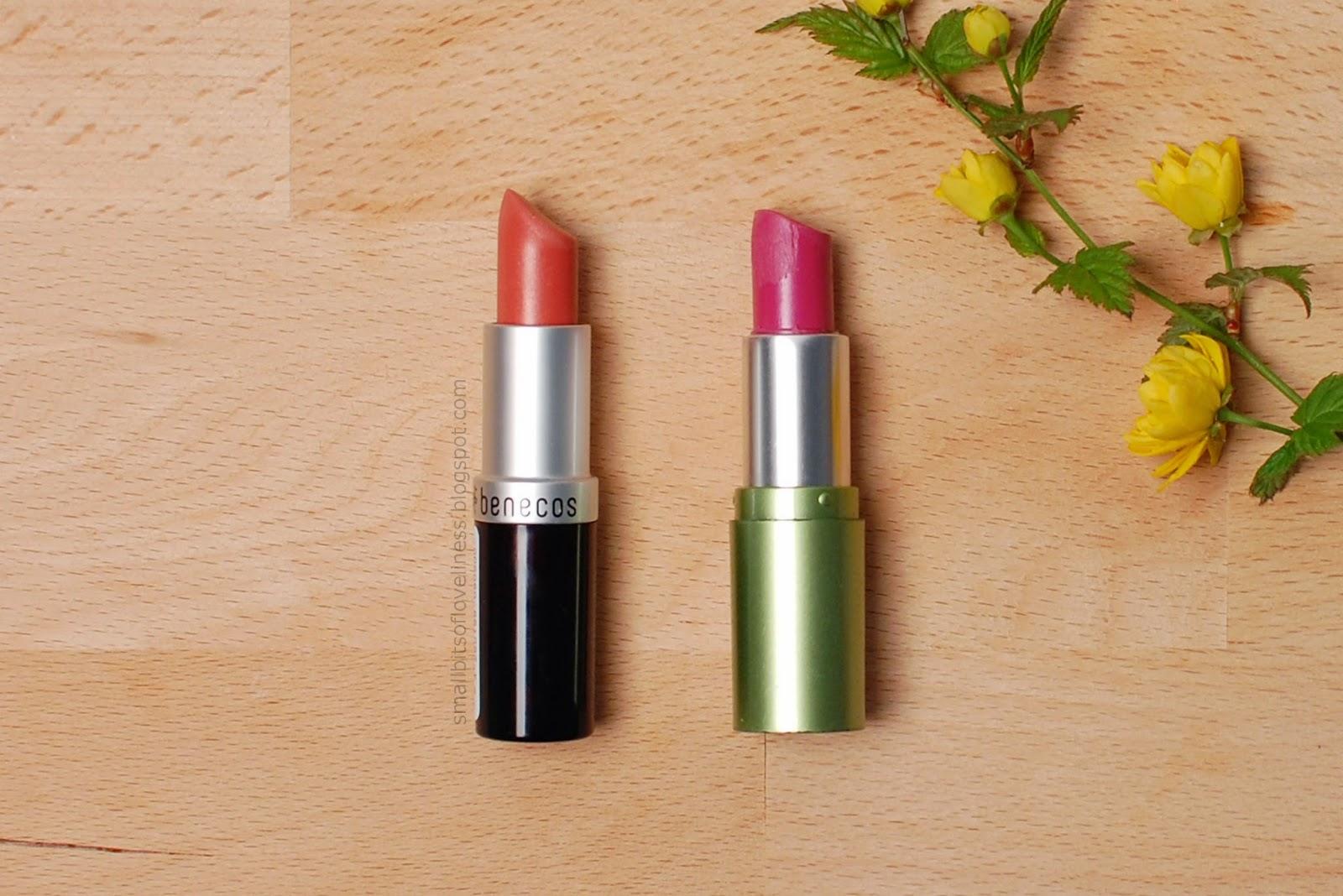 Benecos Peach, Alverde Nadja lipstick