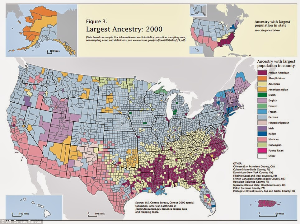 Map Ethnicity Reveals Two Americas North Vs South