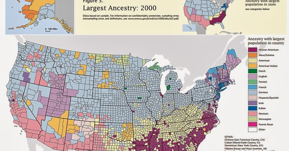 Map Ethnicity Reveals Two Americas North Vs South - Us ancestry map