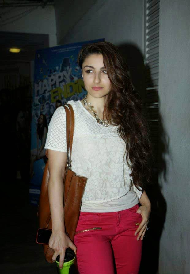 Soha Ali Khan at Happy Ending screening