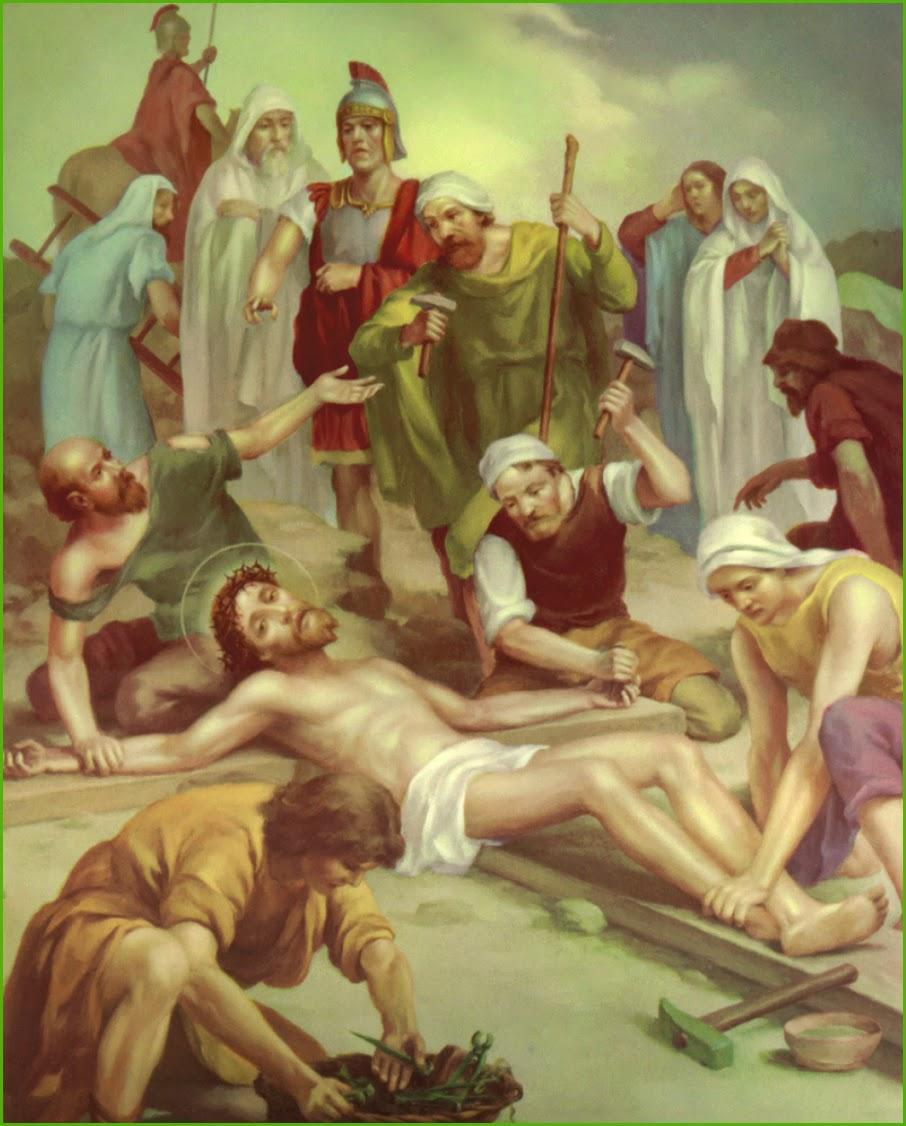 MARTYR DEVASAHAYAM PILLAI: STATION 11 Jesus Is Nailed to the Cross