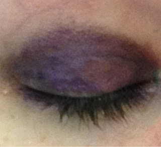 Purple velvet without primer or shadow.