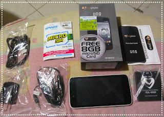 Myphone Uno contents