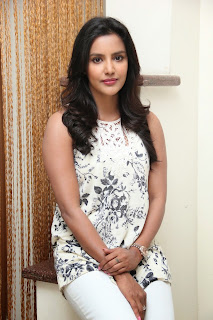 Actress Priya Anand Latest Pictures in Jeans at Oru Oorla Rendu Raja Interview  7