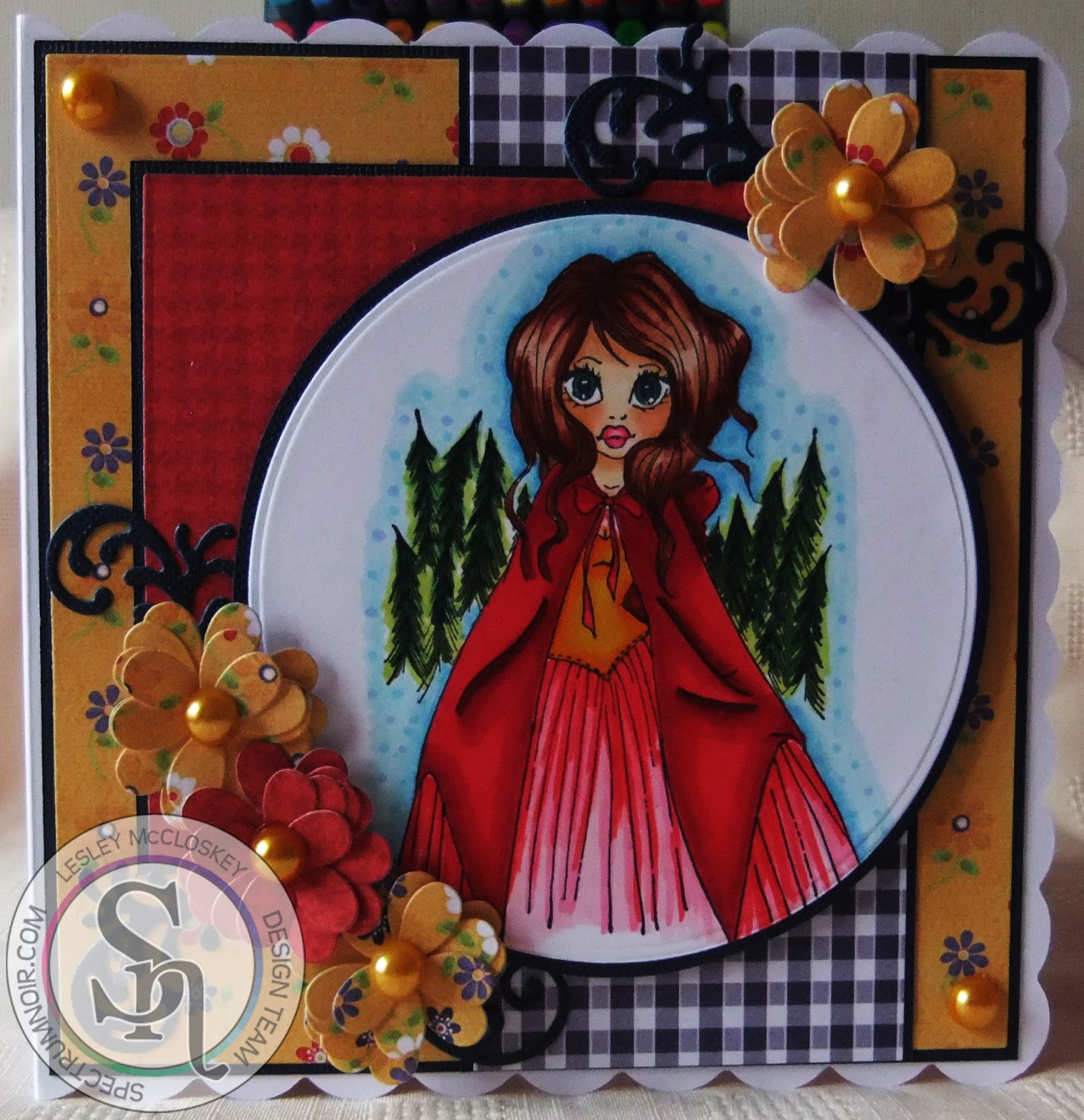 Stamping Bubbles Little Red Riding Hood