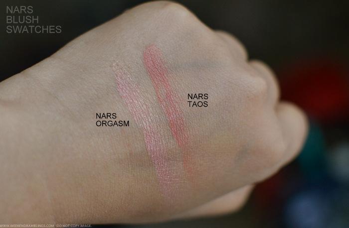 NARS Cosmetics Makeup Blush Swatches - Orgasm Taos
