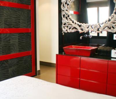 Ba os modernos fabricas muebles ba o - Muebles de bano rojos ...