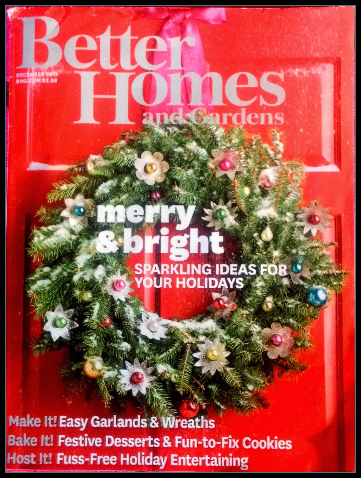 Rue de emily better homes and gardens christmas 2013 issue Better homes and gardens current issue