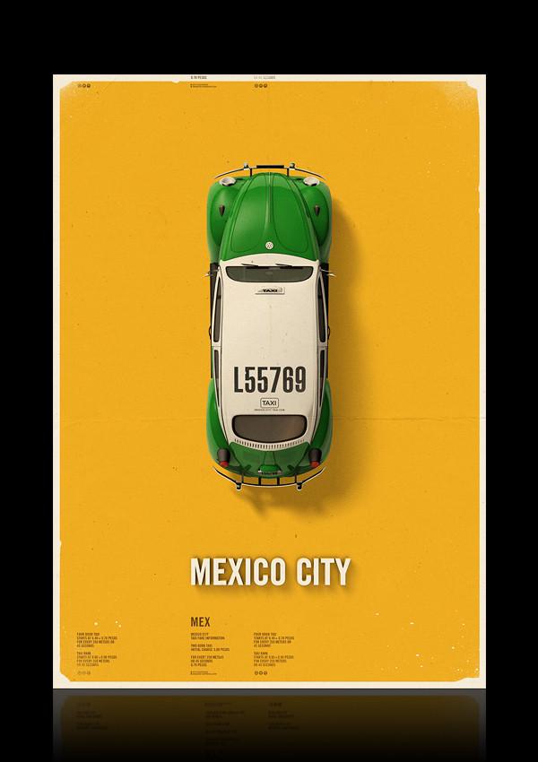 City Cab Posters, TAXI portrait