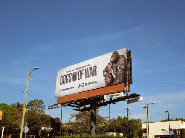 Dogs of War series premiere billboard