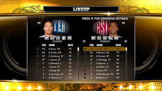 NBA 2K13 PC East vs West Lineup
