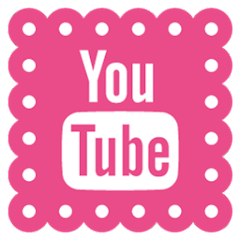 Please click on the YouTube icon below to see all my craft video tutorials!