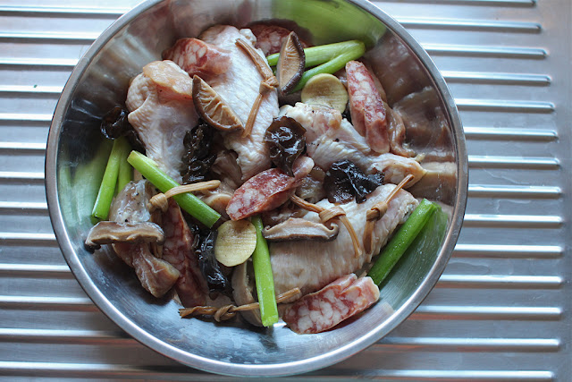 ...: Steamed Chicken with Dried Lily Flowers, Shiitake Mushrooms ...