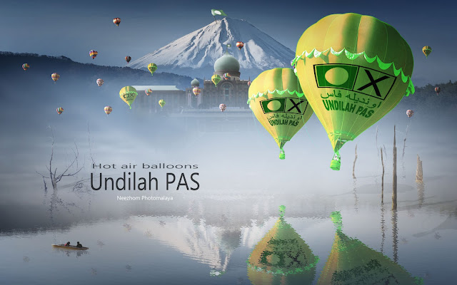 Photo manipulation Hot air balloons Undilah PAS