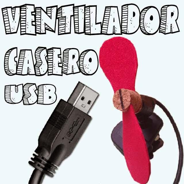 Ventilador USB portátil casero