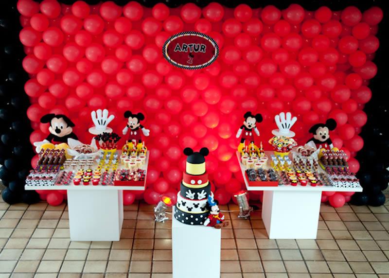 Fiesta Temática de Mickey Mouse - Cumpleaños | Arcos con Globos ...