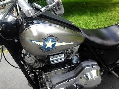 TRANSMigra's vintage 1984 custom Harley Davidson FXR shovelhead softail rebuild: Aluminum Overdraft