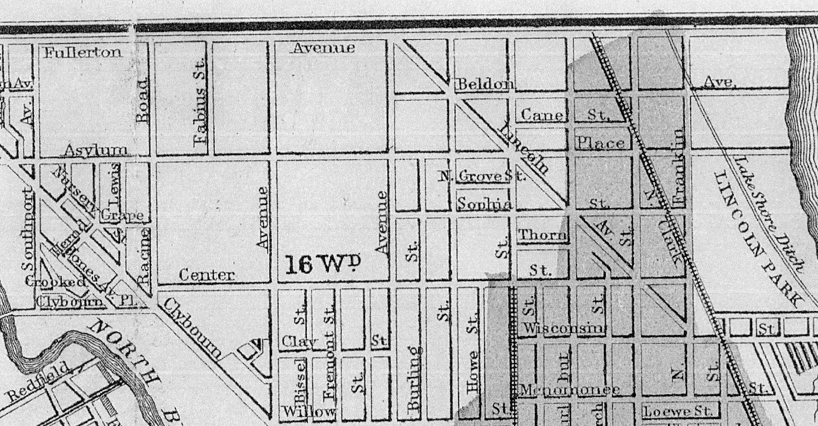 LakeView Historical Chronicles The Township Developments - Chicago fire map