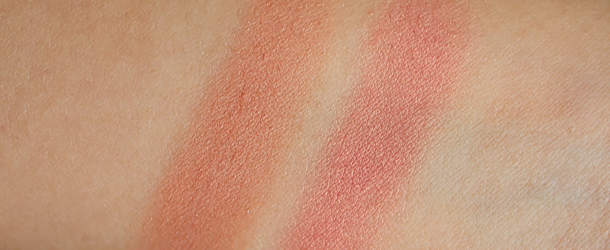 jordana powder blush review sunlit bronze coral sandy beach swatches