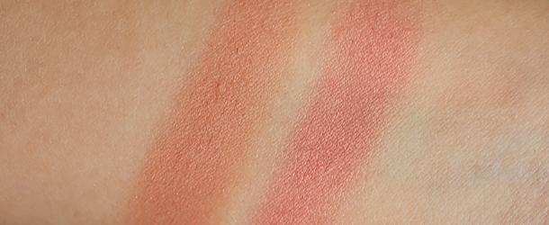 jordana powder blush review sunlit bronze coral sandy beach swatches