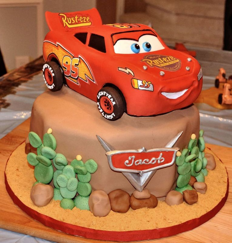 Mcqueen Car Birthday Cake Image Inspiration of Cake and Birthday