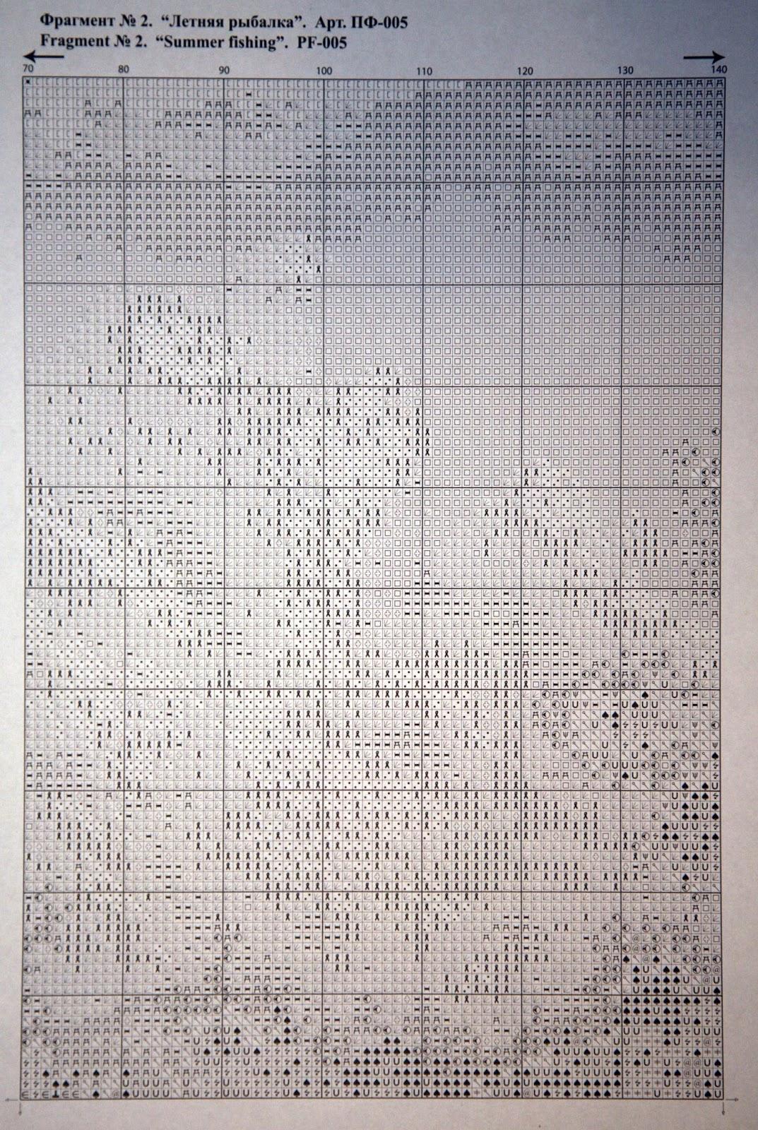 Схема вышивки летняя рыбалка 44