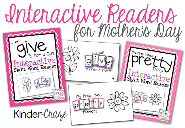 Perfect emergent readers for Mother's Day!