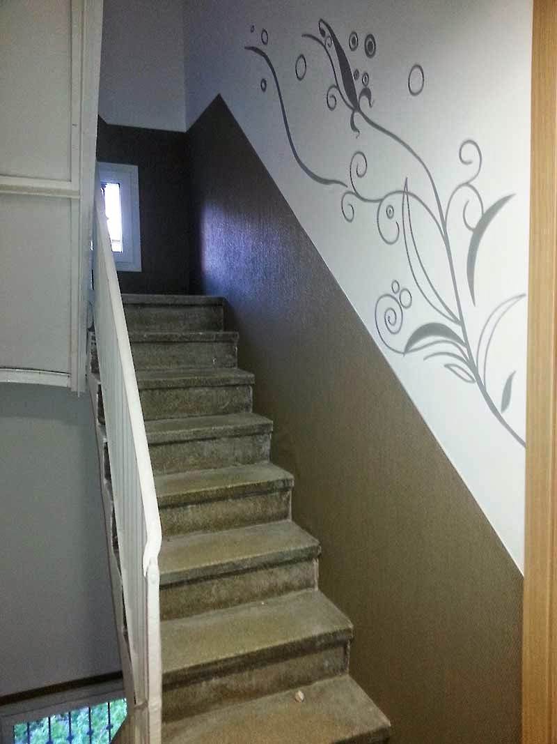 Decorar Pared De Escalera Affordable Estamos Recibiendo Infinidad  ~ Como Decorar La Pared De Una Escalera