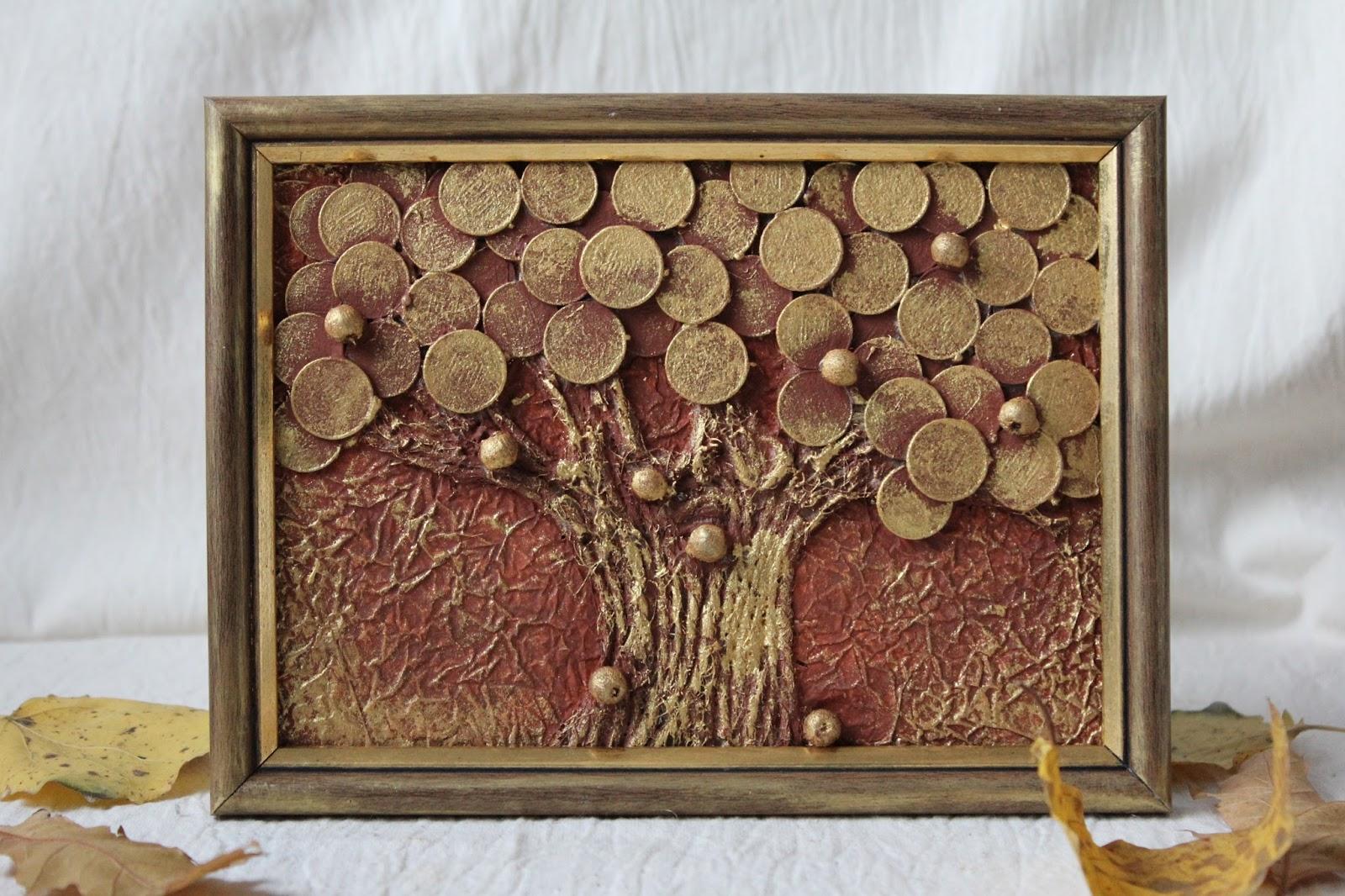 Картина Денежное дерево своими руками, мастер класс