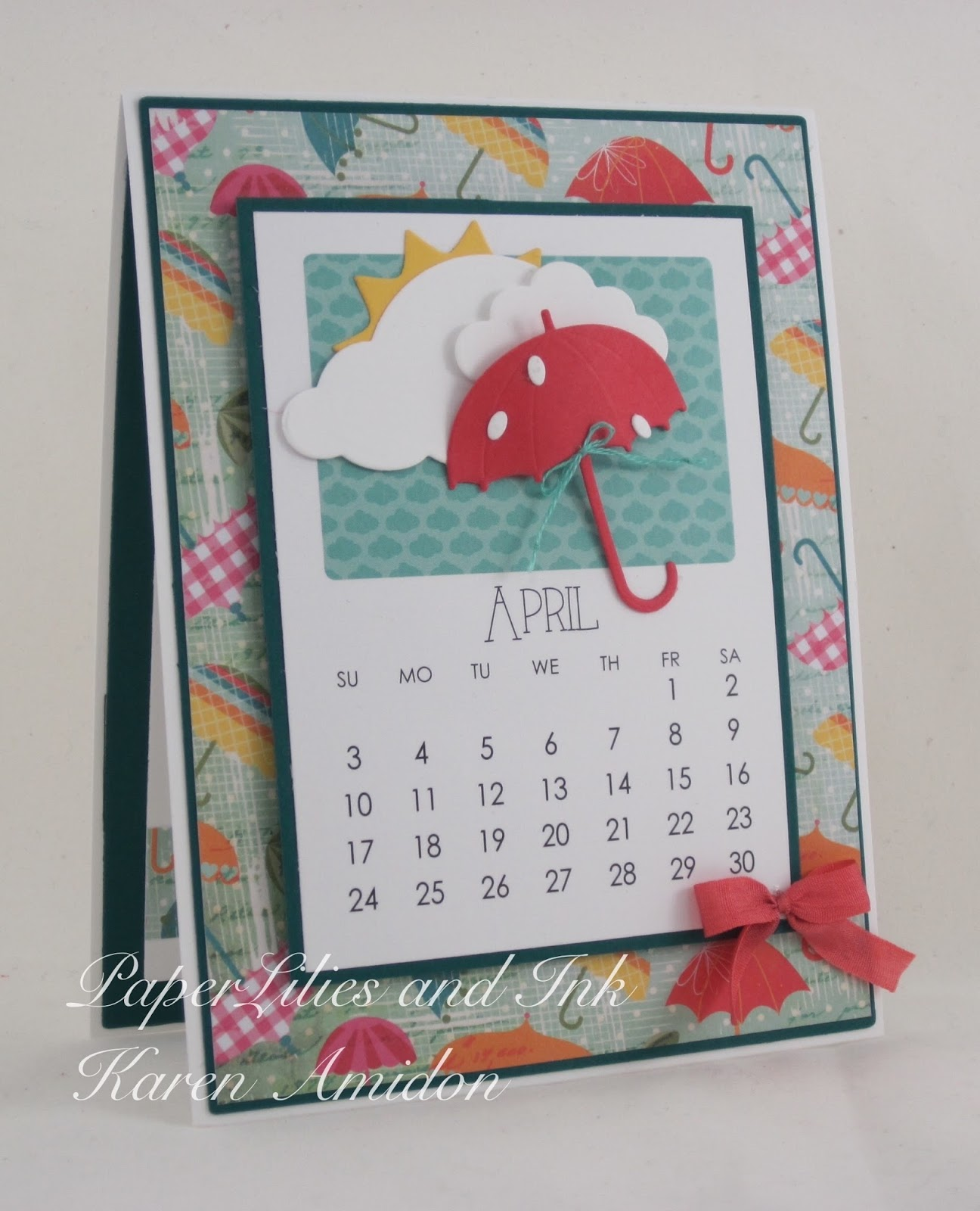 Handmade Calendar With Photos : Paperlilies and ink impression obsession dt thursday on