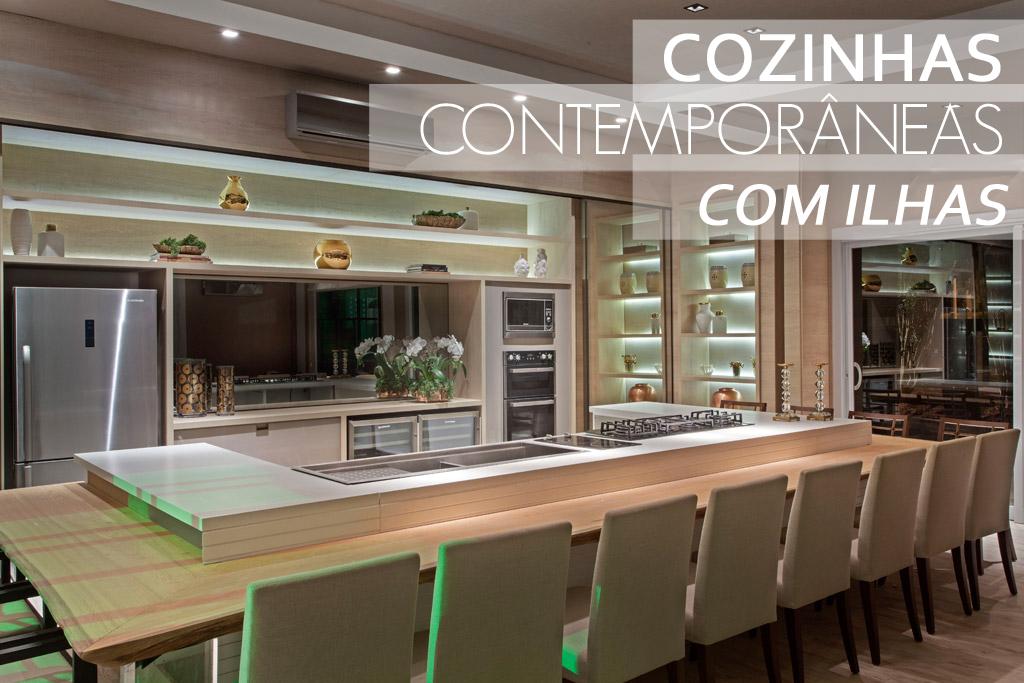 decoracao cozinha de praia:Cozinhas contemporâneas e tecnológicas com ilhas – veja modelos e