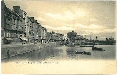 Honfleur, vintage postcard