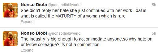 Nonso Diobi responds to Tonto Dikeh's diss of Nollywood actresses