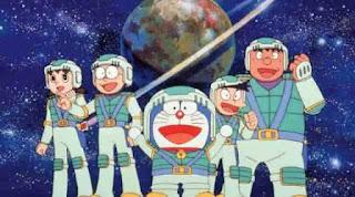 Gambar Doraemon dan teman-temannya menjadi pemain bisbol