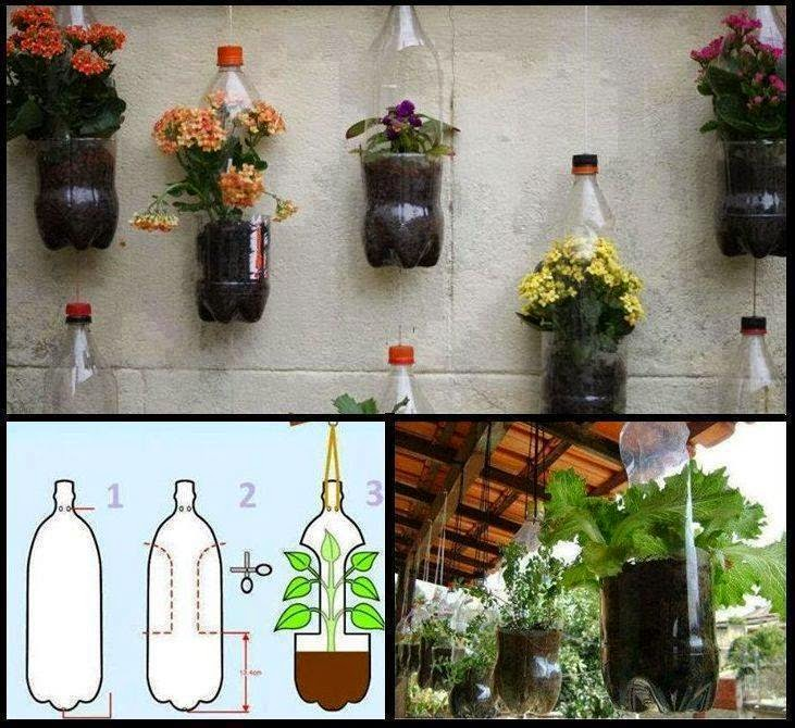 Tutorial de artesan as reciclando botellas pl sticas - Macetas de jardin ...