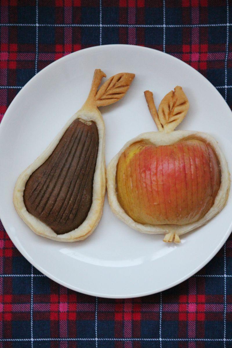 Owoce zapiekane na cieście francuskim