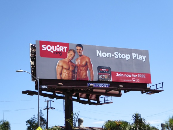 Squirt Nonstop play hookup app billboard