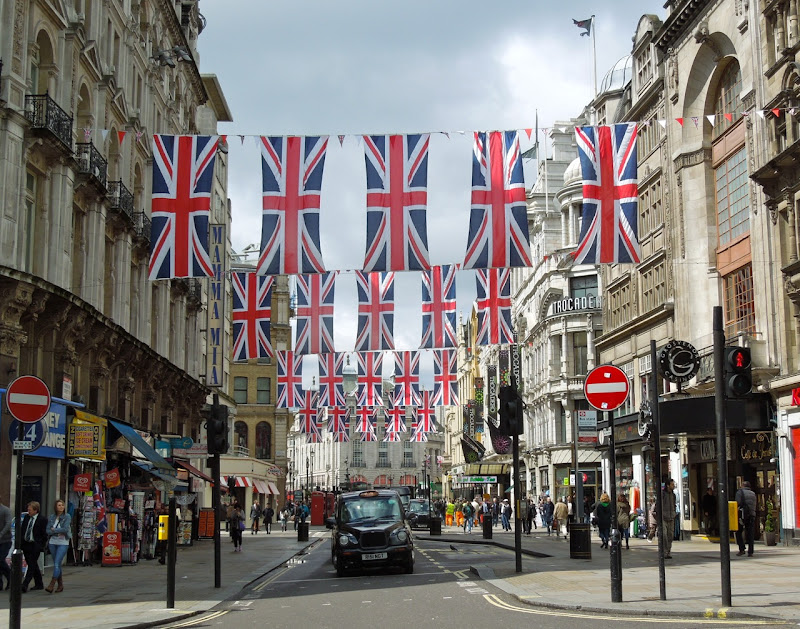Jubilee Union Jacks Coventry St London