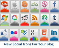 New Social Icons For Your Blog