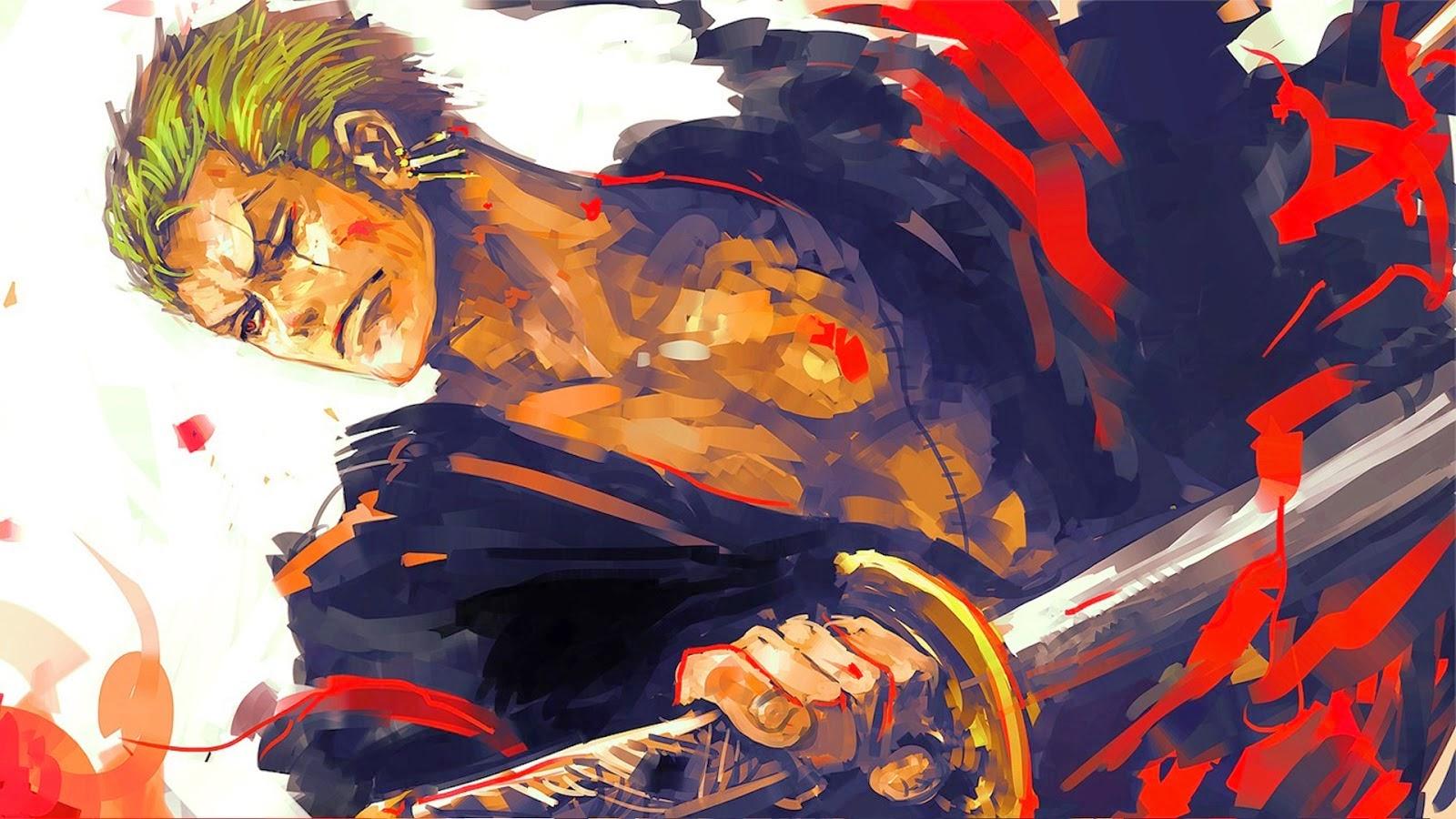 roronoa zoro one pice hd wallpaper for desktop