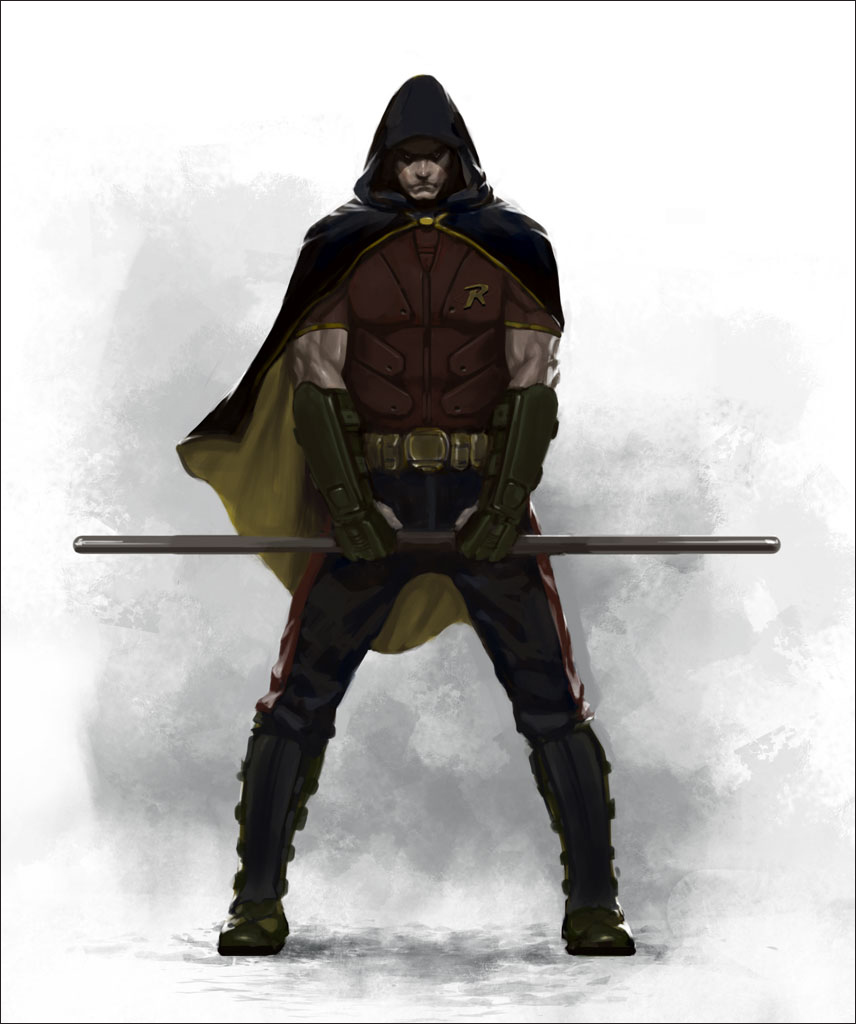 arkham city robin concept art previously 12 minutes of arkhamRobin Arkham City Hood