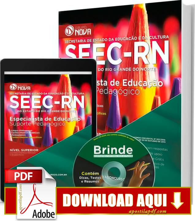 Apostila SEEC RN 2015 Especialista de Educação Suporte Pedagógico Impressa PDF Grátis Download