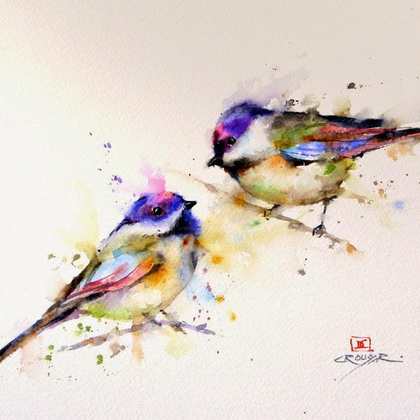 Les 25 meilleures idees de la categorie Oiseau en aquarelle sur ...