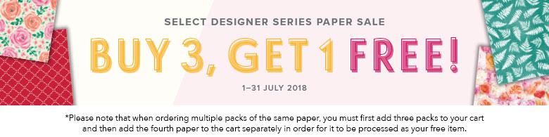 Select Designer Series Paper Sale - Buy 3, get 1 Free