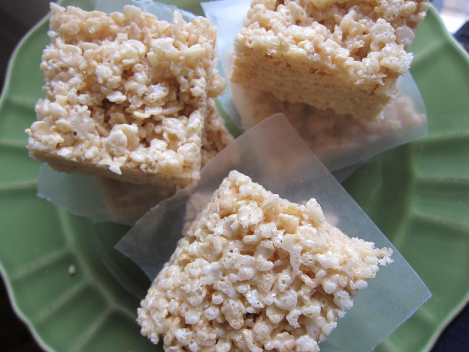 how to make rice crispy sqares